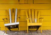 Yellow Wooden Chairs