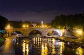 view of Ponte Cestio, Rome, Italy