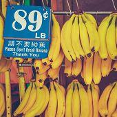 Retro Chinatown Market Bananas