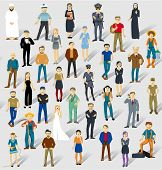 Human infographics.Vector seamless txture.