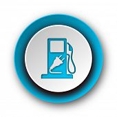 fuel blue modern web icon on white background