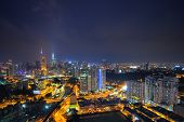picture of kuala lumpur skyline  - Kuala Lumpur is the seat of the Parliament of Malaysia - JPG