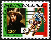 Postage Stamp Senegal 1990 Portrait Of Giuseppe Garibaldi