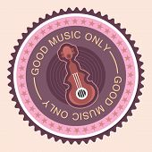 Musical Round Label