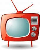 red retro tv set
