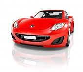 Red 3D Sports Car