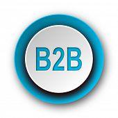 b2b blue modern web icon on white background