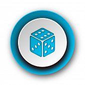 game blue modern web icon on white background