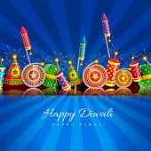 picture of diwali  - Vector happy diwali background with space for your text - JPG
