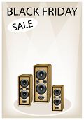 Audio Speaker Shouting Word Black Friday Sale