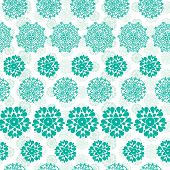 Abstract green decorative circles stars striped seamless pattern background