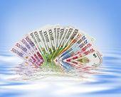 Stack of euros money