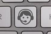 Service on Keyboard Gray Man