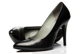 image of stiletto  - Black stiletto High Heels Shoe photo shot - JPG