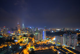 stock photo of klcc  - Kuala Lumpur is the seat of the Parliament of Malaysia - JPG