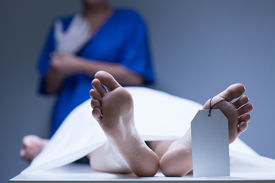 picture of autopsy  - View of worker of morgue during job - JPG