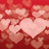 Abstract Heart Background In Vector Format.