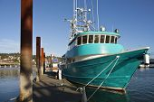 Fishing Boat In Newport Oregon.