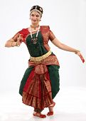 Woman performing bharatanatyam dance