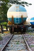 Постер, плакат: Train transfer oil to other place Cargo business for transfer oil from station to other place