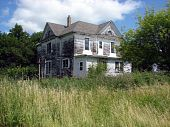 old weathered farmhouse