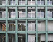 modern office building facade Dresden Germany