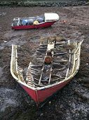 picture of wrecking  - Old wrecked boat on the shoreline in Tobermory on the Isle of Mull - JPG