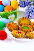 Cookies And Multi-colored Eggs