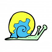 retro comic book style cartoon snail