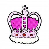 retro comic book style cartoon royal crown