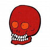 retro comic book style cartoon skull
