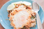 Basil Fried Rice With Pork And Fried Egg