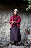 Tibetan mother superior from buddhist monastery