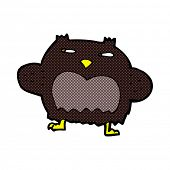 retro comic book style cartoon suspicious owl
