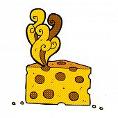 picture of smelly  - retro comic book style cartoon smelly cheese - JPG