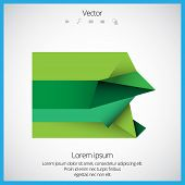Vector abstract background. Origami and polygon geometric