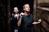 Couple Exploring Abandoned Gold Mine In Costa Rica