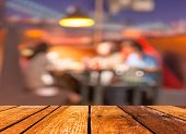 Coffee Shop Blur Background With Bokeh Image
