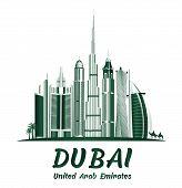 City of Dubai UAE Famous Buildings