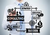 Businessman Drawing Consulting Scheme