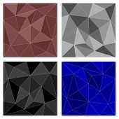 Black, blue, brown, white and grey vector triangle background