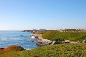 Rocky Seashore in Santa Cruz, California, USA