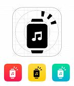 Outgoing sound from smart watch icon.