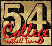College old number graphic vector design