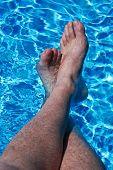 Feet In Blue Water