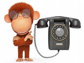 The Monkey With Phone