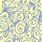 beautiful seamless pattern with swirls
