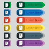 Search In File Sign Icon. Find Document Symbol. Set Of Colored Buttons. Vector