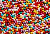 Colorful Sweet Background With Different Sprinkles