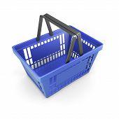 Shopping Plastic Basket Blue